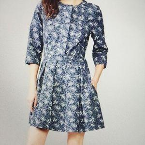 Gap, blue, floral, high waisted, pockets, pleated